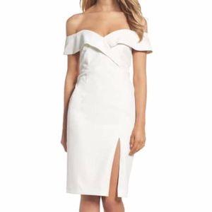 [Bardot] Off shoulder midi dress